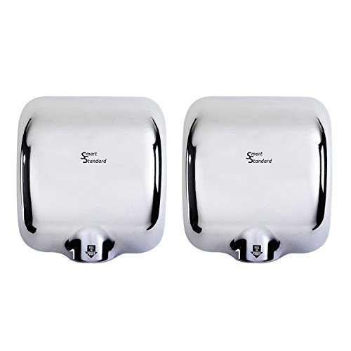 SMARTSTANDARD (2 pack) Heavy Duty Commercial 1800 Watts High Speed Automatic Hot Hand Dryer -...