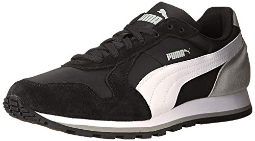 PUMA Men's ST Runner NL Black/White/Limestone Gray Sneaker 4.5 D (M)
