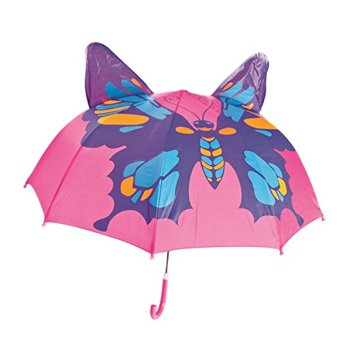 Kids Umbrella - Childrens 18 Inch Rainy Day Umbrella - Butterfly