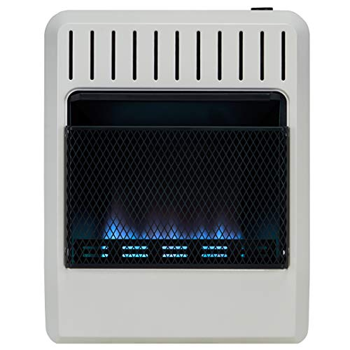 Avenger FDT20BFA Dual Fuel Ventless Blue Flame Heater, White