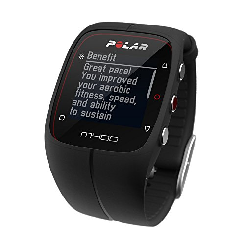 Polar M400 GPS Smart Sports Watch with Heart Rate Monitor (Black)