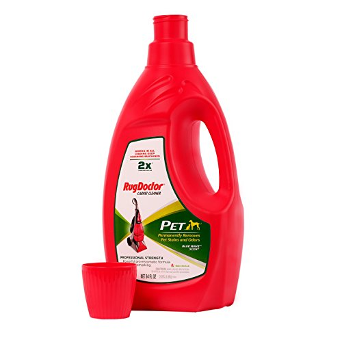 Rug Doctor Pro Carpet Cleaner Pet Formula 64oz, Large, 64 oz, Red
