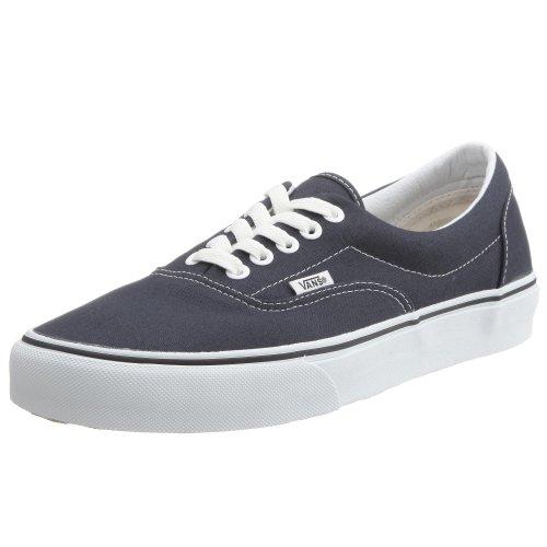 Vans VEWZNVY Unisex Era Canvas Skate Shoes, Navy, 5 B(M) US Women / 3.5 D(M) US Men