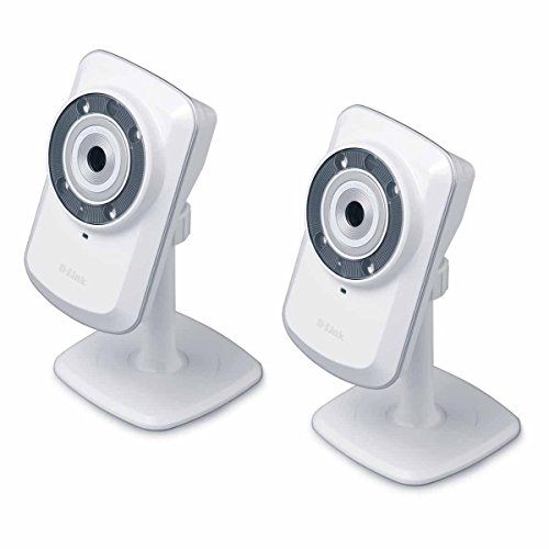 2 Pack D-Link DCS-932L Wireless Day/Night Cloud Network Camera w/ Remote Viewing