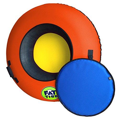 FAT TIRE SNOW TUBES (Deluxe Edition - Neon Orange