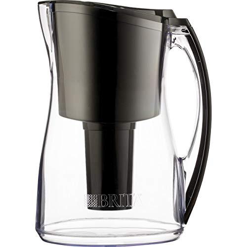 Brita Medium 8 Cup Water Filter Pitcher with 1 Standard Filter, BPA Free – Marina, Black