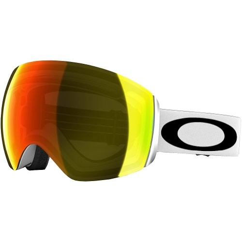 Oakley Flight Deck Ski Goggles, Matte White/Fire Irid