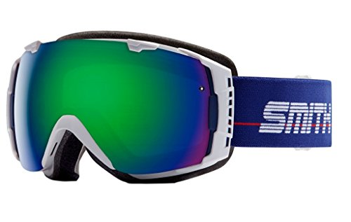 Smith Optics I/O Adult Interchangable Series Snocross Snowmobile Goggles Eyewear - White Archive...
