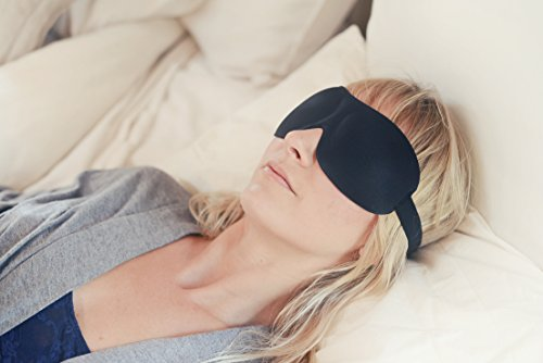 Luxury Patented Sleep Mask, Nidra Deep Rest Eye Mask with Contoured Shape and Adjustable Head Strap,...