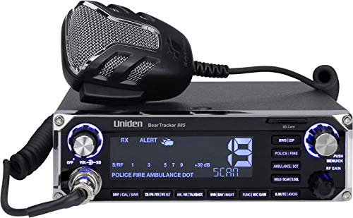 Uniden BEARTRACKER 885 Hybrid Full-Featured CB Radio + Digital TrunkTracking...