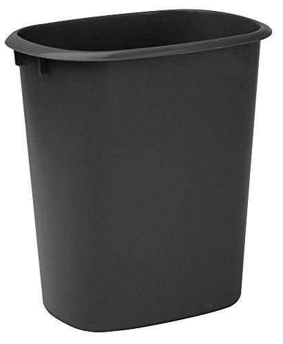 United Solutions WB0173 10-Quart Wastebasket Kitchen, Laundry or Office Trash Can, 2.5 Gallon, Black