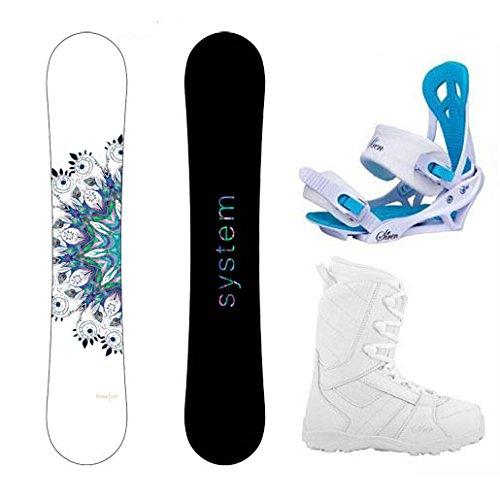 System Package Flite Women's Snowboard-143 cm-Siren Mystic Bindings-Siren Lux Women's Snowboard...