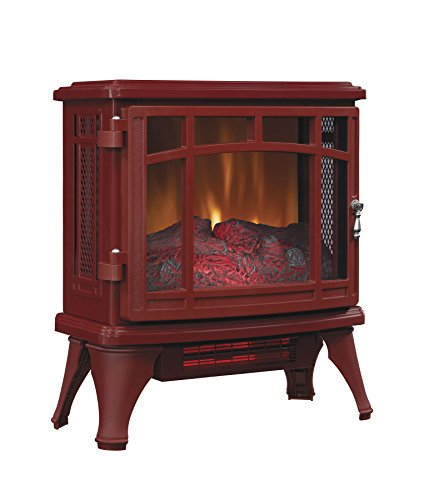 Duraflame Freestanding Electric Fireplace Infrared Quartz Heater Stove, Cinnamon - DFI-8511-03