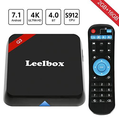 Leelbox Android TV Box, Q3 Andriod 7.1 Smart TV Box 5G WiFi 2GB RAM 16GB ROM TV Box