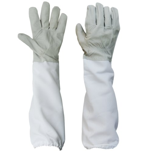 BESTOPE Upgraded Beekeeping Gloves Premium Goatskin Leather Beekeeping Supplies with Long Canvas...