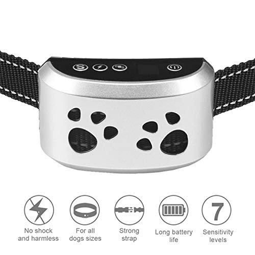 Bark Collar - Humane, No Shock Training Collar - Action Without Remote - Vibration & Sound Care...