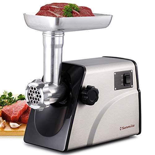 Sunmile SM-G33 Electric Meat Grinder - 1HP 800W Max Power - ETL Stainless Steel Meat Grinder Mincer...