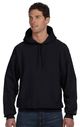 Champion Reverse Weave 12 oz. Pullover Hood (S1051) Black, L