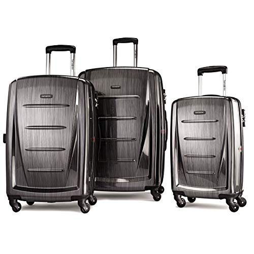 Samsonite Winfield 2 Hardside Expandable Luggage with Spinner Wheels, Charcoal, 3-Piece Set...