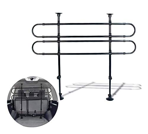 Zento Deals Black Vehicle Pet Barrier Fence (Adjustable 27' to 45')