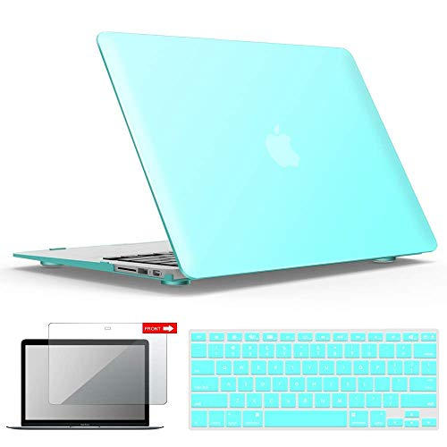iBenzer MacBook Air 13 Inch Case, Soft Touch Hard Case Shell Cover with Keyboard Cover Screen...