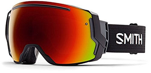 Smith I/O7 Snow Goggles Black / Red Sol-X Mirror / Blue Sensor Mirror One Size