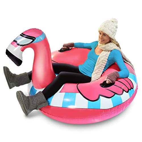 GoFloats Winter Snow Tube - Inflatable Sled for Kids and Adults (Choose from Unicorn, Ice Dragon,...