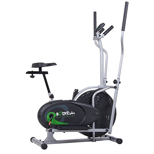 Body Rider Elliptical Trainer and Exercise Bike with Seat and Easy Computer / Dual Trainer 2 in 1...