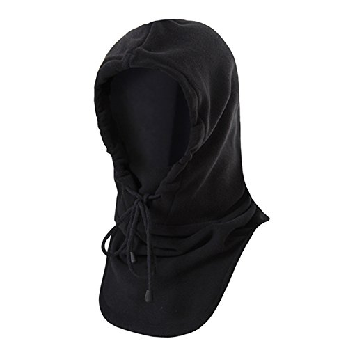 Winter Warm Tactical Heavyweight Balaclava Outdoor Sports Face Mask, Black, One Size