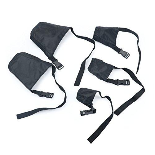 Idepet 1SET Dog Muzzles Suit,5PCS Adjustable Dog Anti-Biting Barking Muzzles for Small Medium Large...