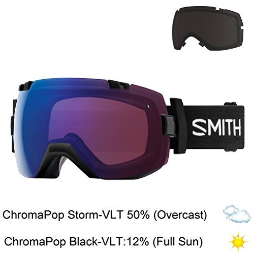 Smith Optics I/Ox Goggles - Black Frame, Chromapop Photochromic Rose Flash Lens
