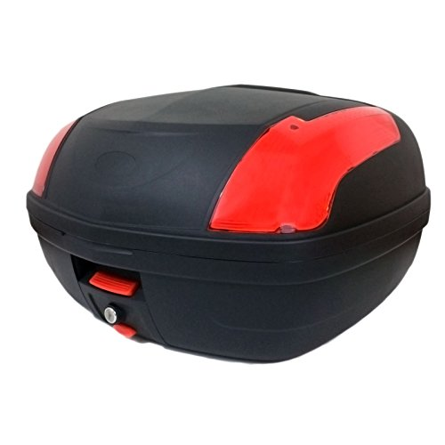 MMG Motorcycle Touring Large Top Box Tail Trunk Luggage Box, 12.6 x 16.5 x 21.6 In, Holds 2 Helmets...