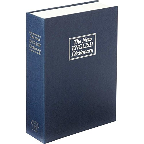 Large The New English Dictionary Faux Book - Diversion Metal Safe with Lock and Two Keys