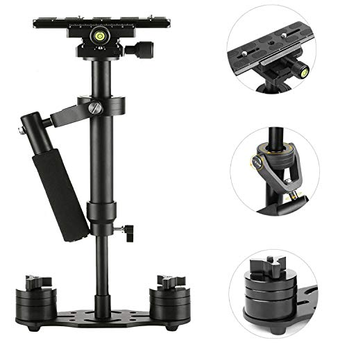 DSLR Steadicam SUTEFOTO Pro Adjustable Handheld Carbon Fiber Video Camera Stabilizer Steady for...