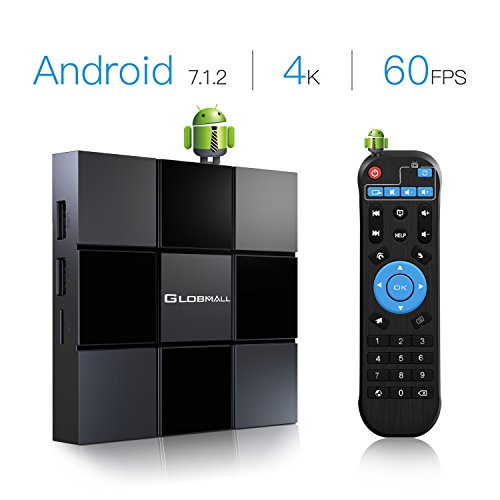 Android Box, Globmall 2018 Model X3 Android TV Box, Android 7.1 TV Box 2GB RAM 8GB ROM Quad Core A53...