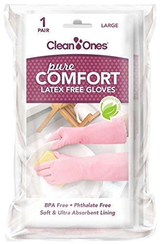 Clean Ones Pure Comfort Latex Free Vinyl Gloves - Medium 6pr