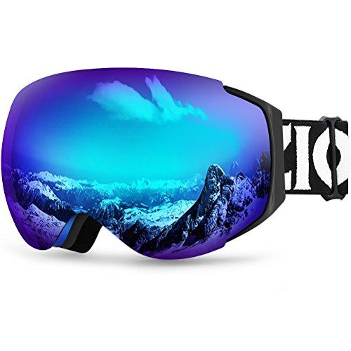 ZIONOR X6 Ski Snowboard Snow Goggles OTG for Men Women Youth Anti-Fog UV Protection Helmet...