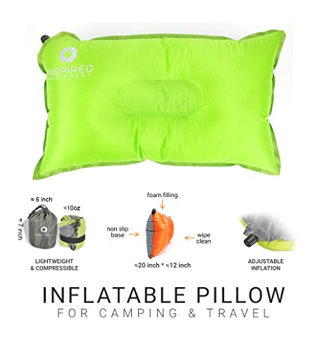 Inspired Equipment Camping Pillow Compressible & Portable | Best Camping Gear for Adults & Kids |...