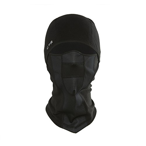 Chaos -CTR Tempest Multi Tasker Pro Micro Fleece Balaclava with Windproof Face Mask, Black,...