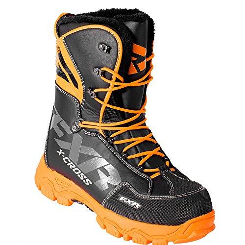 FXR X-CROSS Lace-up Snowmobile Boots Black OPS-Mens 11/EU45