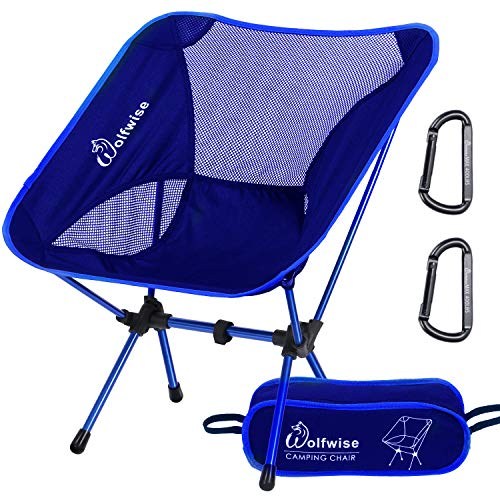 WolfWise Ultralight Portable Camping Chair, Compact Folding Backpacking Lounge Chairs for Outdoor...