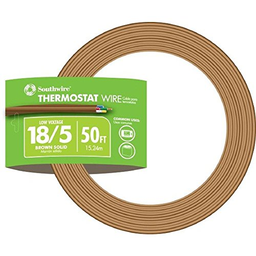 Southwire 64169622 5 Conductor 18/5 Thermostat Wire, 18-Gauge Solid Copper Class 2 Power-Limited...