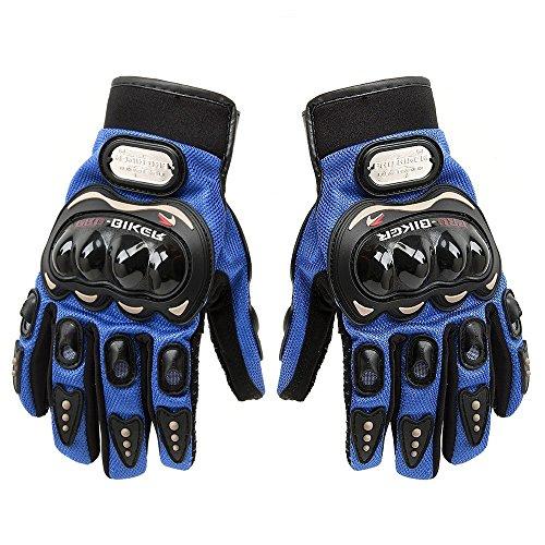 Tcbunny Pro-biker Motorbike Carbon Fiber Powersports Racing Gloves (Black, Large)