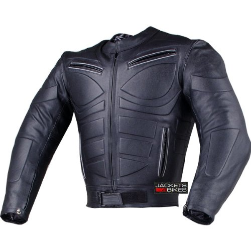 Men's Blade Motorcycle Riding Leather CE Armor Biker Ventilated Jacket Black XL