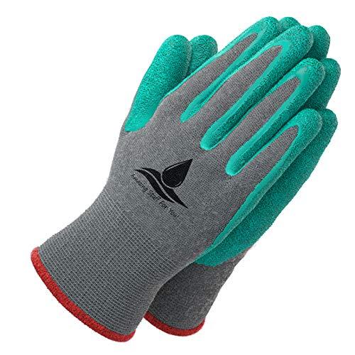Amazing Stuff For You! Garden Gloves Women (2 Pairs per Package) Medium. Premium Grade, Breathable,...