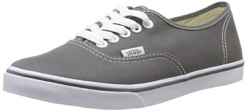Vans Unisex Authentic Lo Pro Skate Shoe (8.5 B(M) US Women/7 D(M) US Men, Pewter/True White)