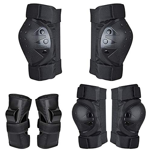 DOMEANYWAY Knee Pads for Kids/Youth, Protective Gear Set with Elbow Pads, Wrist Guards for...