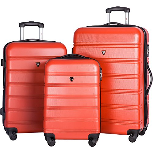 Merax Travel House Luggage Expandable Spinner Set, Red, 3 Piece