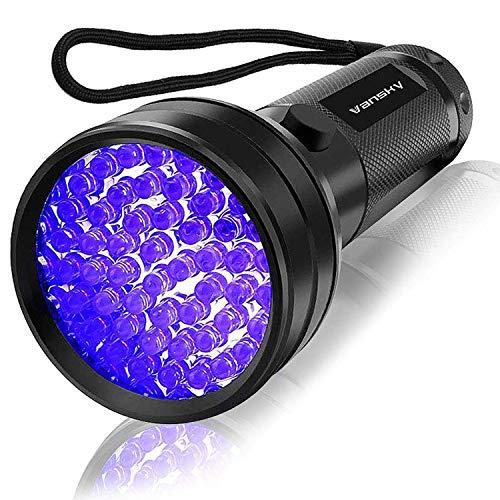 UV Flashlight Black Light , Vansky 51 LED Blacklight Pet Urine Detector for Dog/Cat Urine,Dry...