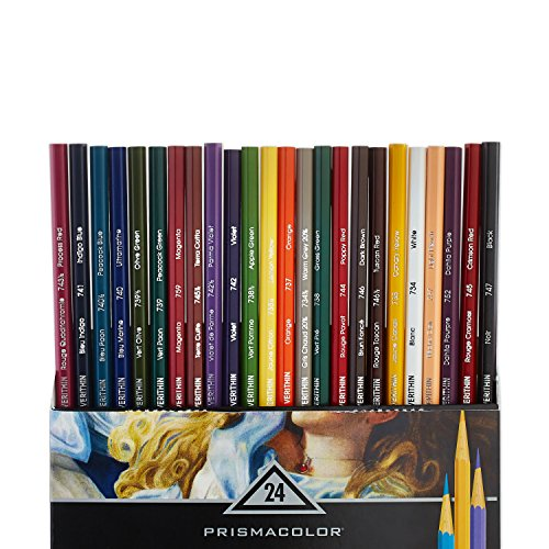 Prismacolor 2427 Premier Verithin Colored Pencils, 24-Count